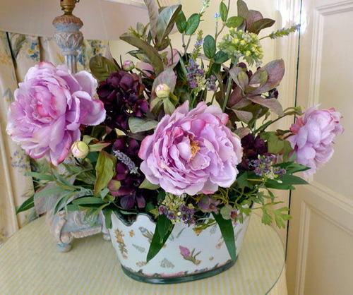 Peony Silk Flower Arrangement