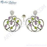 Amethyst & Peridot Silver Designer Jewelry