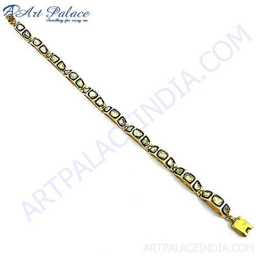 Gold Plated Silver Diamond Bracelet