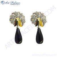 Fashion Design Black Onyx Silver Jewelry