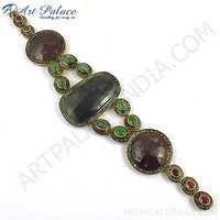 Party Wear Designer Diamond Silver Bracelet
