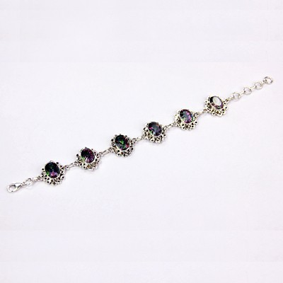 Mystic Stone Silver Bracelet