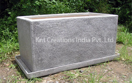 Spotted Granite Vertical Planter