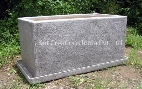 Spotted Granite Vertical Planter