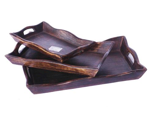 Wooden Trays Set of 3