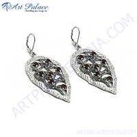 Designer Garnet Gemstone Earrings