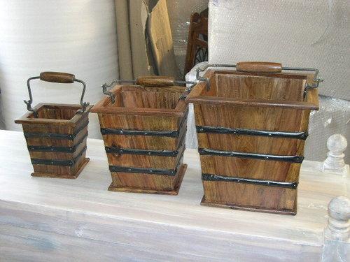 Wood Baskets Bathroom