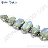 Indian Ethnic Rainbow Moonstone Bracelet