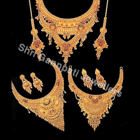 Pure Gold Necklace Set
