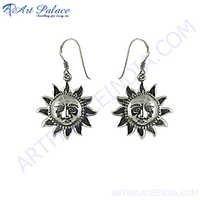 Designer Sun Style silver Earring