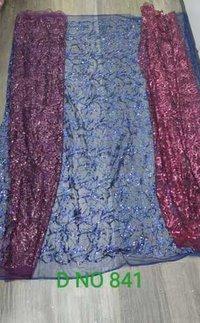 Designer Glitter Net Fabric