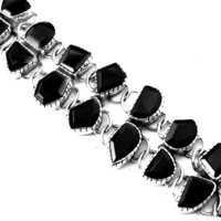Hot! Dazzling Garnet Silver Bracelet