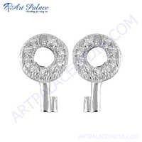 Fantastic Key Style Gemstone Earring