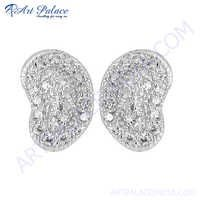 Amazing Cubic Zirconia Silver Earring