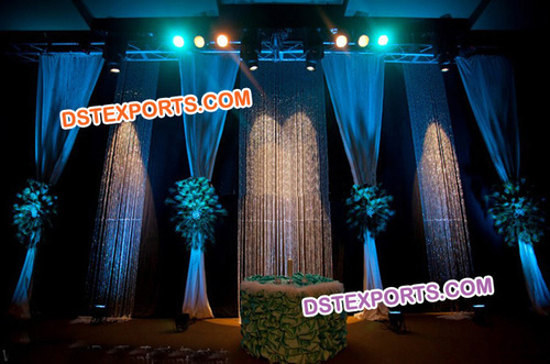 Wedding Stage Crystal Blue Backdrop