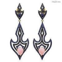 Diamond Gemstone Gold Earrings