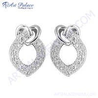 Charming Gemstone 925 Sterling Silver Earring