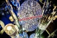 Wedding Blue Lighted Crystal Ball