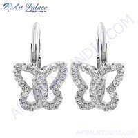 Lovely Butterfly Style  Silver Earring