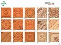 Wooden & Bhama Glossy Tiles 395mm x 395mm