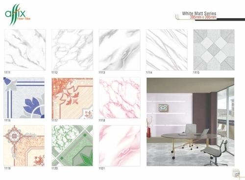395mm x 395mm White Matt Floor Tiles