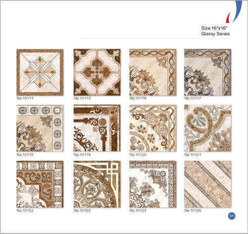 Colored Ceramic Digital Floor Tiles