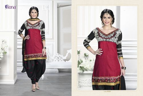 Unstitched Ladies Patiala Dress Material