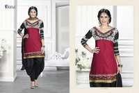Unstitched Ladies Patiala Dress Material