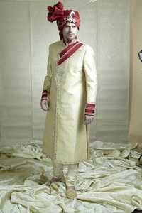 Angrakh Wedding Sherwani