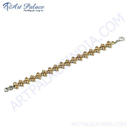 Gold Plated Silver Daimond Bracelet