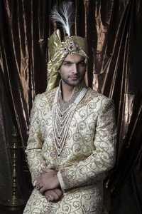Gold Sherwani