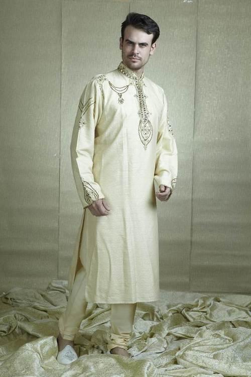 Cream Kurta pyjama