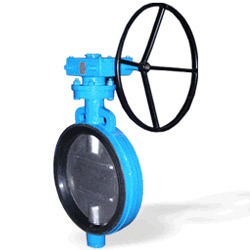 Wafer Type Gear Operated Butterfly Valve