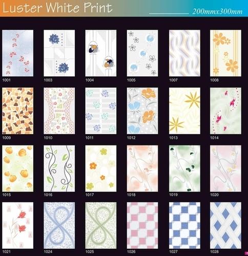 Lustre White Ceramic Wall Tiles