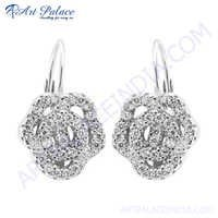Fashion Gemstone Jewelry Silver Earring