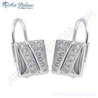 Designer Cubic Zirconia Gemstone Earring
