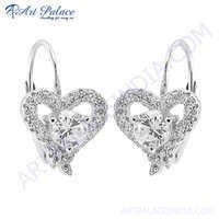 Beautiful Heart Style Silver Earring