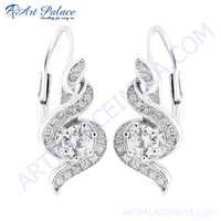 Exclusive Cubic Zirconia  Silver Earring