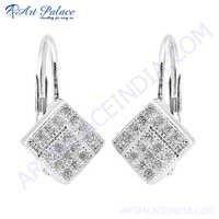 Cubic Zirconia Stylish 925 Sterling Silver Earring