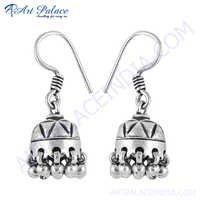 Traditional 925 Sterling Silver Gemstone Earring