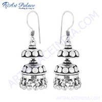 Pure Style 925 Sterling Silver Gemstone Earring