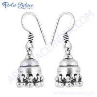 Traditional  Silver Gemstone Earring