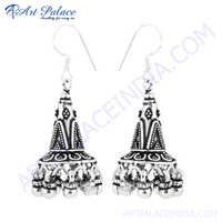 Famous Design Gemstone Silver Earring