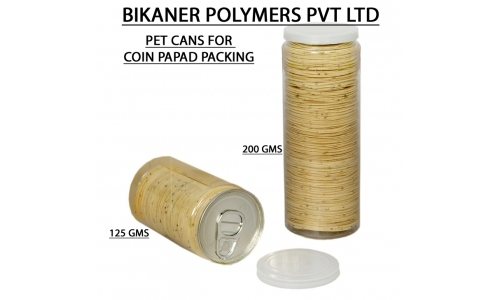 Coin Papad Pet Cans