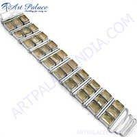 Antique Octagon Silver Bracelet