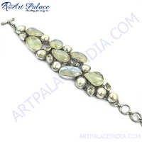 Exclusive Multi Stone Silver Bracelet