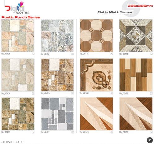 Satin Matt Ceramic Floor Tiles