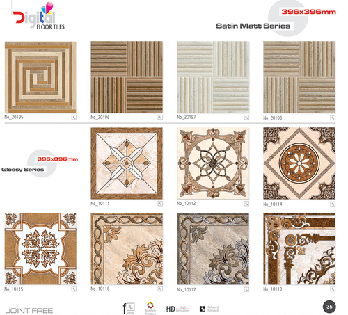 New Ceramic Floor Tiles 396 x 396