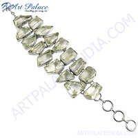 HOT Luxury White Crystal Silver Bracelet