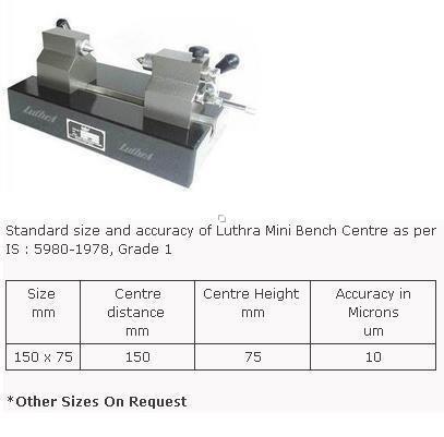 Mini Bench Centre Granite Base